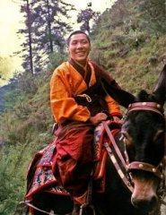 the young Trungpa Rinpoche on horseback in '68