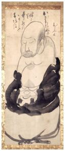 Hotei Meditating. Ink on paper, 123.7 x 50.3 cm. Ginshu Collection.